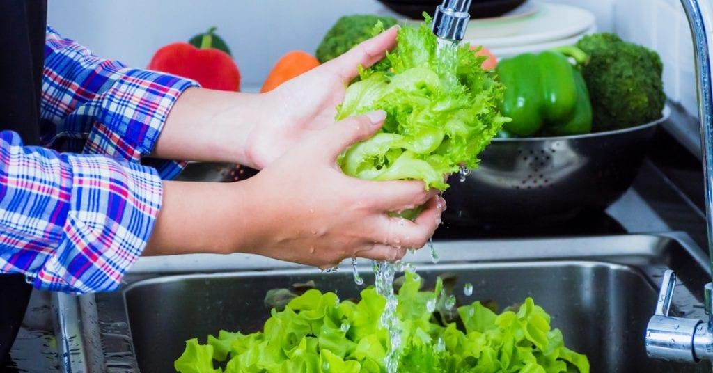 lavagem das verduras
